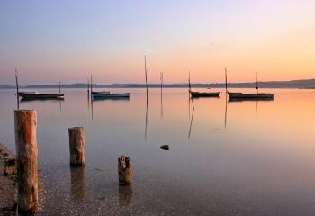 Foz do Arelho plage et la lagune d